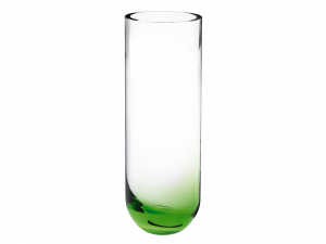 HOME Vase Glass Green Background Exclusive Brand Design Made in Italy