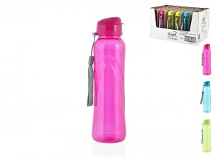HOME Pack 24 Bottle Pet Assorted Colors 0,63Lt Display Exclusive Italian Design