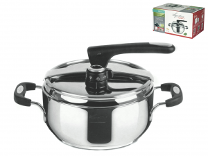 LAGOSTINA Pressure cooker Briosa stainless steel lt3.5 Pots preparation Italy