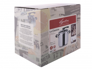 LAGOSTINA Pressure Cooker The Classic With Basket 12 l Exclusive Italian Design