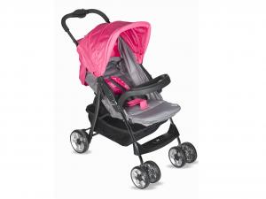 LULABI Stroller Gray/Fuchsia Lolli Bedroom With Tray Baby Top Italian Brand
