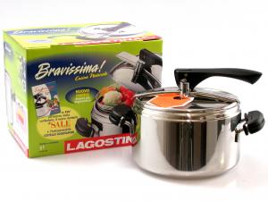 LAGOSTINA Italian Pressure cooker Bravissima natural cuisine lt.5 Preparation