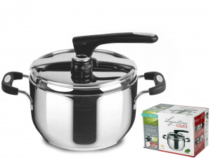 LAGOSTINA Italian Pressure cooker Briosa stainless steel lt.5 Pots preparation