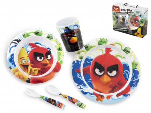 LULABI Set 5 Melamine Baby Angry Birds Furnishing Table Top Italian Style