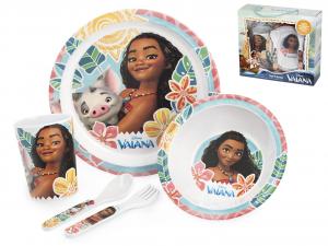 LULABI Set 5 Melamine Baby Disney Vaiana Exclusive Brand Design Italian Style
