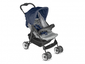 LULABI Stroller Lolli Gray/Blue Bedroom With Tray Baby Exclusive Italian Style
