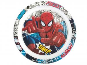 LULABI Pack 6 Plate Melamine Spiderman Piano 21.5 Exclusive Italian Design Brand