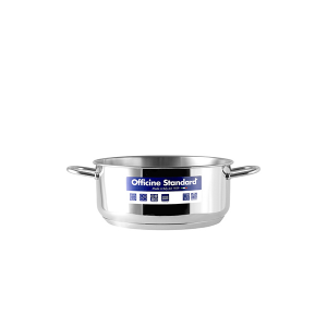 OFFICINE STANDARD Italian Stainless steel bottom pan Sara 2 handles 14 Cookware