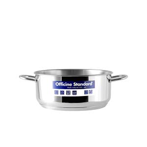 OFFICINE STANDARD Italian Stainless steel bottom pan Sara 2 handles 20 Cookware