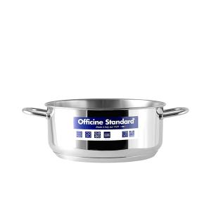 OFFICINE STANDARD Italian Stainless steel bottom pan Sara 2 handles 22 Cookware