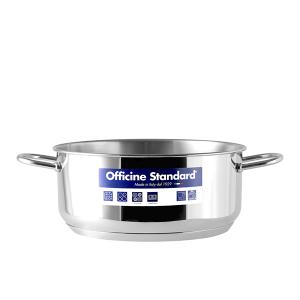 OFFICINE STANDARD Italian Stainless steel bottom pan Sara 2 handles 26 Cookware