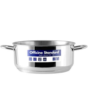 OFFICINE STANDARD Italian Stainless steel bottom pan Sara 2 handles 30 Cookware
