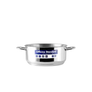 OFFICINE STANDARD Italian Steel saucepan Sara stand down 2 handles 16 Cookware