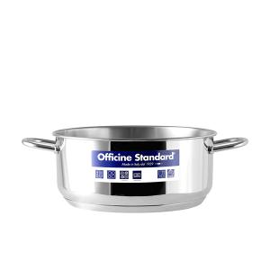 OFFICINE STANDARD Italian Steel saucepan Sara stand down 2 handles 24 Cookware