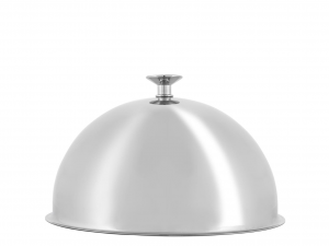 PINTI INOX Stainless steel cloche 22 cc Semisphere Exclusive Italian Design