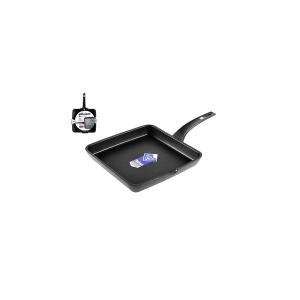PINTI INOX Smooth Non-Stick Grill Efficient Cm22 Kitchenware Top Italian Style