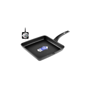 PINTI INOX Smooth Non-Stick Grill Efficient Cm28 Kitchenware Top Italian Style