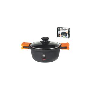 PINTI INOX Saucepan 2 Handles With Non-Stick Efficient Cm20 Lid Italian Style