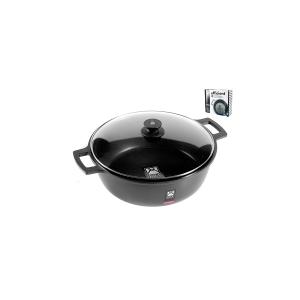 PINTI INOX Italian Saucepan 2 Handles Efficient With Nonstick Cm32 Lid Kitchenware