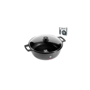 PINTI INOX Italian 2 efficient nonstick saucepan handles with lid CM24 Cookware