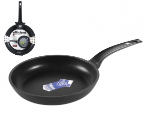 PINTI INOX Italian Nonstick skillet efficient platinum CM24 Pans preparation