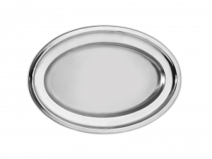 PINTI INOX Platter Inox Bord/Heavy 31 Cm Tableware Exclusive Italian Design