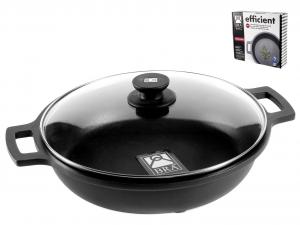 PINTI INOX Non-Stick Pan 2 Handles Cm40 Efficient With Lid Top Italian Brand