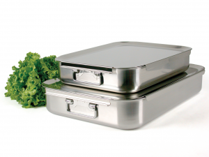 PINTI INOX Baking Tray Inox Catering 50X35 Pots Preparation Top Italian Brand