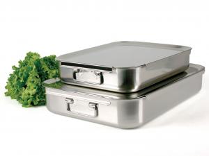 PINTI INOX Baking Tray Inox Catering 60X40 Pots Preparation Top Italian Brand