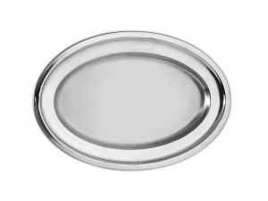 PINTI INOX flow stainless steel plate bord / heavy 36 cm Serving Dishes Italy