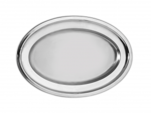 PINTI INOX flow stainless steel plate bord / heavy 42 cm Serving Dishes Italy