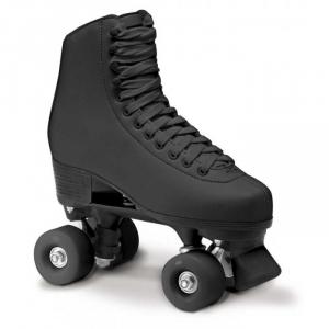 ROCES Roller Skates For Figure Skating Quad Rc1 Black Pvc Leather Upper 550025_0