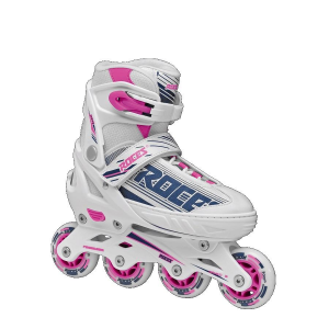 ROCES Italian Roller Skates Inline Extendable Jokey 0.1 Girl White Pink Purple 400811
