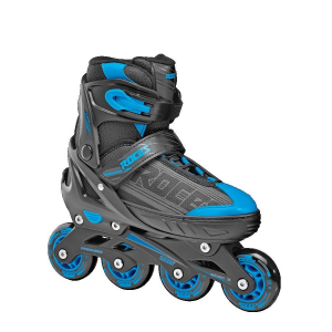 ROCES Italian Extending Roller Skates In Line Jokey 0.1 Boy Black Astro Blue 400810