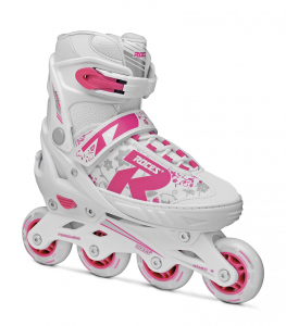 ROCES Italian Roller Skates Extendable In Line Jokey 2.0 Girl White Pink 400827