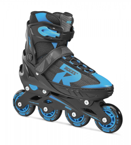 ROCES Italian Roller Skates Extendable In Line Jokey 2.0 Boy Black Blue 400826