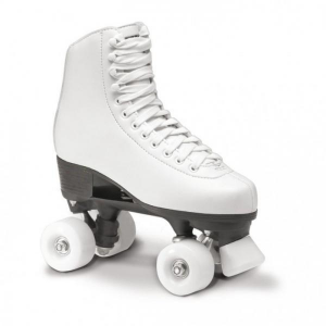 ROCES Italian Roller Skates For Figure Skating Quad Rc1 White Pvc Leather Upper 550025_001