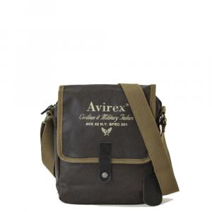 Avirex - Alifax - Borsa a tracolla unisex con patta e magnete 1 scomparto marrone cod. A11
