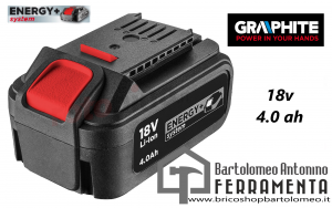 Batteria Energy+ 18V 4.0Ah Graphite 58G004