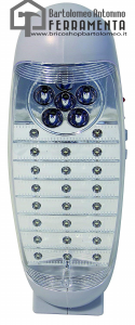 lampada emergenza portatile ricaricabile Velamp IR160LED Ovidea Lanterna