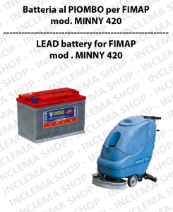 Batteria al PIOMBO for Scrubber Dryer FIMAP model MINNY 420