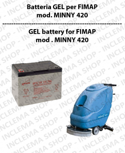 Batteria al GEL for Scrubber Dryer FIMAP modello MINNY 420