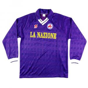 1990-91 Fiorentina Maglia Home #10 XL