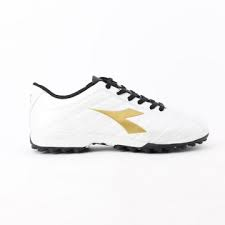 SCARPE DIADORA CALCETTO PICHICHI TF JR 101. 173509 01 C2348 WHITE/GOLD/BLACK