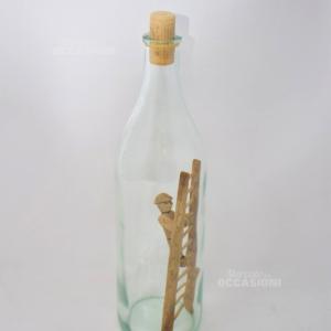 Bottiglia Scala E Omino