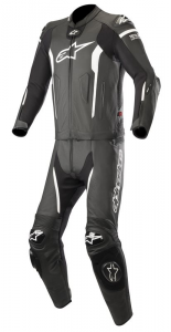 TUTA IN PELLE ALPINESTARS MISSILE LEATHER SUIT 2 PC BLACK WHITE COD. 3160119