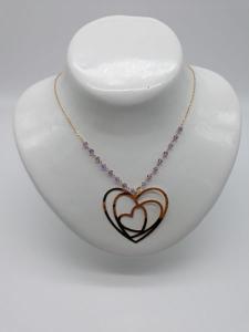 Collana Donna in oro con cuore e Ametista, vendita on line | GIOIELLERIA BRUNI Imperia