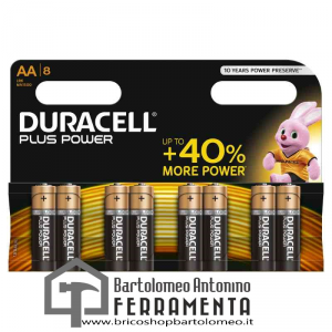 Duracell Plus Power Stilo (AA) x 8 pz
