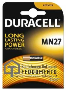 DURACELL MN27 BATTERIA ALCALINA 12V A27/V27A