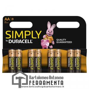 Duracell Simply Stilo (AA) 1500 X 8PZ